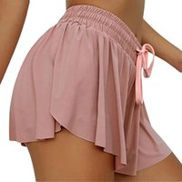 Running Shorts 2021 Plus Size Women Casual Sports Skirt 2 In 1 Quick Dry Elastic High Waist Breathable Tennis Gym Yoga