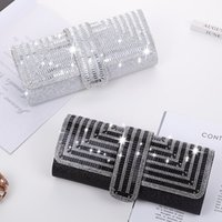 Elegant and luxurious women's long evening Bags, shiny attractive appearance, classic zipper, very fashionable