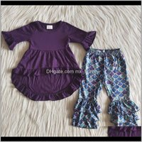 Sets Baby Baby, & Maternityrts Fall Spring Design Kids Designer Clothes Girls Two Piece Long Sleeve High-Low Top Cor Bell Pants Boutique Clot