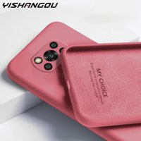 For Poco X3 NFC M3 F3 Case Liquid Silicone Soft Phone Cover Xiaomi Redmi Note 9 8 10 Pro 9s 8T 9T 9A 9C Mi 11 10T Lite