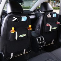 Car Seat Covers Storage Bag Back Organizer Box Pad Cups Drink Holder Fabric Child Anti-kick Accessories Decoration