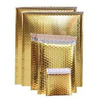Gold Bubble Mailer Umschlag Taschen Polygepolsterte Folie Stoßdurchsichtige Mailer Geschenk Express Verpackung Hochzeitsbeutel Tasche multiseze 0388pack