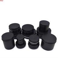 10g 20g 30g 50g 60g Aluminum Jars Matte Black Cosmetic Cream Lotion Bottles Makeup Facial Masks Lip Plumper Metal Tins for Girlsgood qty