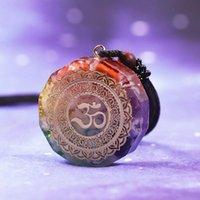 Chakra Luminoso Orgonita Energía Colgante Natural Cristal Energizante OM El collar absorbe los collares de la joyería de curación negativa