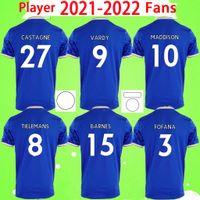 플레이어 팬 버전 21 22 레스터 축구 유니폼 2021 2022 도시 Vardy Maddison Tielemans Barnes Ndidi Fofana Camiseta de Fútbol 남자 키트 Maillot 축구 셔츠