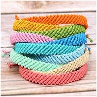 Kimter Ethnic Braided Friendship Bracelet Anklets Cotton Thread Ankle Bracelets Handmade Foot Jewelry for Women Girls Q551FZ