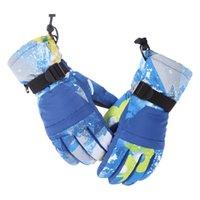 Skihandschuhe Plüsch Eltern-Kind Touchscreen Extra dicke Anti-Skid-wasserdichtes Reiten im Freien Bergsteigen Warme Handschuh Männer und Frauen