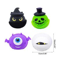 Decompression Fidget Toy Glowing Halloween Little Devil Pinch Music Ball Spoof To Vent Adult Toys Factory Wholesale Party Favor