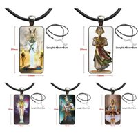 Pendant Necklaces For Women Jewellery Necklace Fashion Long Chain With Rectangle Jewelry Simple Egypt Osiris Egyptian