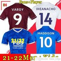 2021 التايلاندية TSWY Soccer Jerseys Vardy 21 22 Football Shirt زي 2021 2022 مراوح Ricardo Ndidi Maddison Maillot موحدة الرجال أطقم