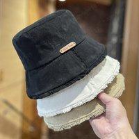 autumn winter women fashion Split tassel brim bucket cap woman casual outdoor fishermen hat