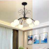 Chandeliers Norse Droplight American Countryside Iron Vintage Living Room Lamp Bedroom Dining E27 Ceiling Chandelier