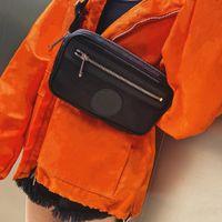 남자를위한 그리드 허리 가방에서 패션 디자이너 여성 캔버스 가슴 가방 숄더 크로스 바디 편지 고품질
