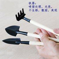 3шт / комплект Мини садовые инструменты Ake + Spade + Shovel для Fairy Садовые миниатюры инструменты Terrarium Figurines инструмент 367 S2