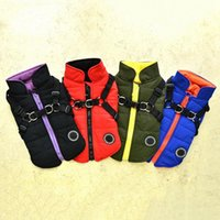 Dog Apparel Pet Clothes Vest Harness Winter Warm Cotton Padded 2 In 1 Outfit Jacket For Small Puppy Dogs Cold Weather Coat