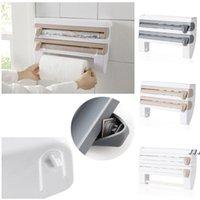 Distributeur de roulis de cuisine Collage Film Film Tin d'essuie-serviette Rack monté sur un nouveau support de mur de réfrigérateur DWD5854