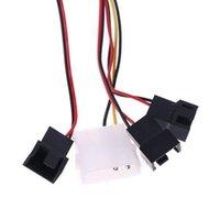 Kanäle Fan Hub 1 Knopf Kühldrehzahlregler für CPU-Gehäuse HDD VGA PWM-Fans Kühlungen