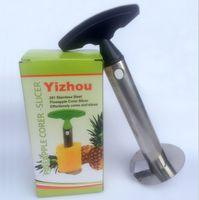 Acciaio inossidabile Pineapple Peeler Cutter Slicer Corer Peel Core Tools Frutta Coltello Ortaggio Gadget Gadget Spiralizer ZWL187