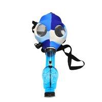 FDA Силиконовая газовая маска с акриловым курением Bong Силиконовая труба Tabacco Shisha Дымовая труба Водопроводная труба Дымовой аксессуар Свободный корабль