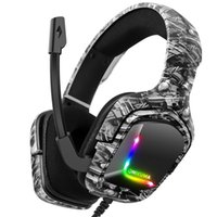 2021 ONIKUMA K20 CAMO GRIGIO GRIGIO CUSTOM WIRED RGB Cuffie da gioco stereo con microfono per PS4 Gamer