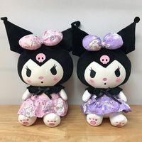22 cm Nieuwe Kuromi Pluche Speelgoed Japanse JK Kuromi Zachte Gevulde Peluches Doll Ornament Serie Cartoon Pluche Speelgoed Gift voor meisjes