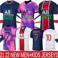 Mbappe iCardi Soccer Jerseys 21 22 Thaï Maillots de football Kean Verratti Marquinhos Hommes + Kids Kit Uniformes Maillot quatillot 2021 2022 Jersey sur mesure