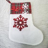 Большие пушистые Santa Socks Hristmas Pet Nog Suck Paw чулок висит камин рождественские дерево христма украшения 08