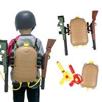 Niños de verano Natación Mochila Pistola de agua Estilo de agua Juguetes para niños pequeños Juguetes de 4 dedos Easy Tull Troders Diseñado para niños de 2 a 7 años