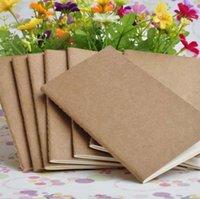 2021 Kraft Notebook Unlined Blank Books Travel Journals for Students School Children Writing Books 8.8*15.5cm