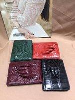 Wallets Genuine Crocodile Skin Wallet Purse Car Drive License Holder Case Alligator Feet Bank Card Red Green Purple