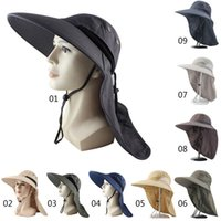 Wide Brim Hats Outdoor Fishing Flap Cap Lightweight Water Resistant Portable UV Protection Neck Cover Sun Hat With Chin Strap