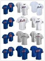 맞춤 망 여성 청소년새로운요크메츠18 Darryl Strawberry 39 Edwin Diaz 48 Jacob Degrad 65 Robert Gsellman Baseball Jerseys