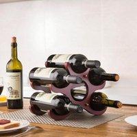 Европейское деревянное красное вино стеллаж 6 бутылок держатель держателя горы Дисплей полка творческий твердой древесины бутылка дома настольные стойки