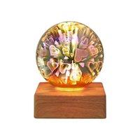 Ночные огни подарок USB аккумуляторный романтический светодиодный красочный настольный лампа портативный детский спальня прикроватная света звезда 3D фейерверк домашний декор