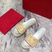 Маленькая свежая вязаная тапочка для женщин, носящих стильные плоские, открытые пальцы, удобные тапочки для лета снаружи