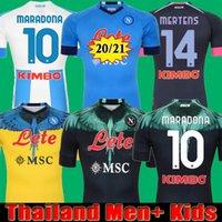 20 21 Napoli Fussball Jersey Neapel Fußball Hemd 2021 Koulibaly Camiseta de Fútbol Insignente Maradona MAILLT FUCT MERERNSEN CAMISA thailand