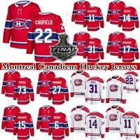 Montreal Canadiens Jersey 22 Cole Cole Cola 14 Nick Suzuki 31 Carey Preço 73 Tyler Toffoli 11 Gallagher 27 Romanov para Mens Hóquei Jerseys