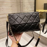 Classic France Shopping Bags Quilted Double Chains Matelasse Shoulder Large Capacity Multi Pochette Street Top Real Genuine Leather Luxury Designer Handbags 32C