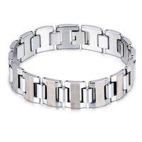 Herren High Polished Real Wolfram Stahl Armband Gesundheitspflege Hologramm Einstellbare Armbänder Unisex Mode Link Kette Armreifen Link,