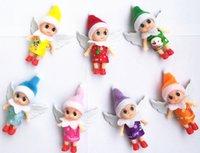 Boże Narodzenie Mini Doll Dla Urodzinowego Torba Torba Wisiorek Niespodzianka Prezent 10 CM Cute Elfy z wymiennymi ubraniami i skręcalne ciało Urocze Elf Babies Maluchers
