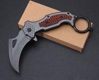 DA106 발톱 칼 Karambit 클로 미니 클로 캠핑 포켓 접이식 생존 나이프 크리스마스 선물 나이프 A1746