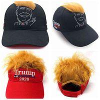 Donald Trump Hair Baseball Cap Funny outdoor Trump 2020 Empty visor cap embroidery Cap Beach Sun Hats LJJA3558-6