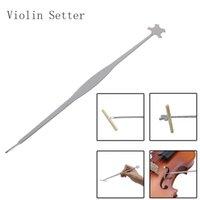 바이올린 비올라 사운드 포스트 세터 직립 스테인레스 스틸 열 후크 도구 문자열 악기 부품 액세서리