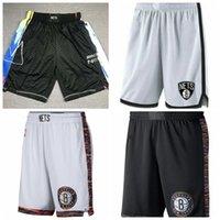 HommesBrooklynLes équipes de basket-ball filets Salut Short; Short de basket brodé en tissu fin