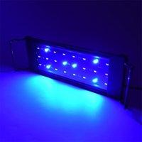 Super Bright 12 / 24W светодиодный аквариум легкие рыбы бак светло-травяной лампы для 30-80 см посаженный рыбный танк белый теплый белый синий свет D25 Y200922