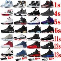Raging Bull 5s 2021 Sapatos de Basquete 1S 4S 6S 11S 12S 13S Stealth 2.0 4 Fogo Vermelho 5 Universidade Blue 1 Criado 11 Toyal Toe Men Treinadores Atacado Sapatilhas