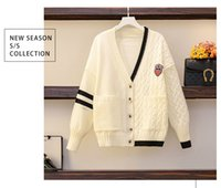 Winter women's knitted two piece set dresses and coat button design fashionable trend suit#260