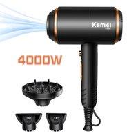 Kemei مجفف شعر المهنية بطفية قوية بوقية ساخنة والباردة قوة قوية 4000W مجففات ضربة أيون سلبية مع الناشر KM-8896