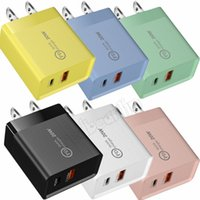 Colorful 10W 15W Fast Quick Chargers Eu US PD USB-C Wall Charger Type c Power Adapter For IPhone Samsung Lg pc mp3