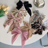 여성 소녀 귀여운 머리핀 머리 밧줄 레이스 꽃 활 리본 헤어 클립 패션 머리띠 검은 분홍색 머리카락 액세서리